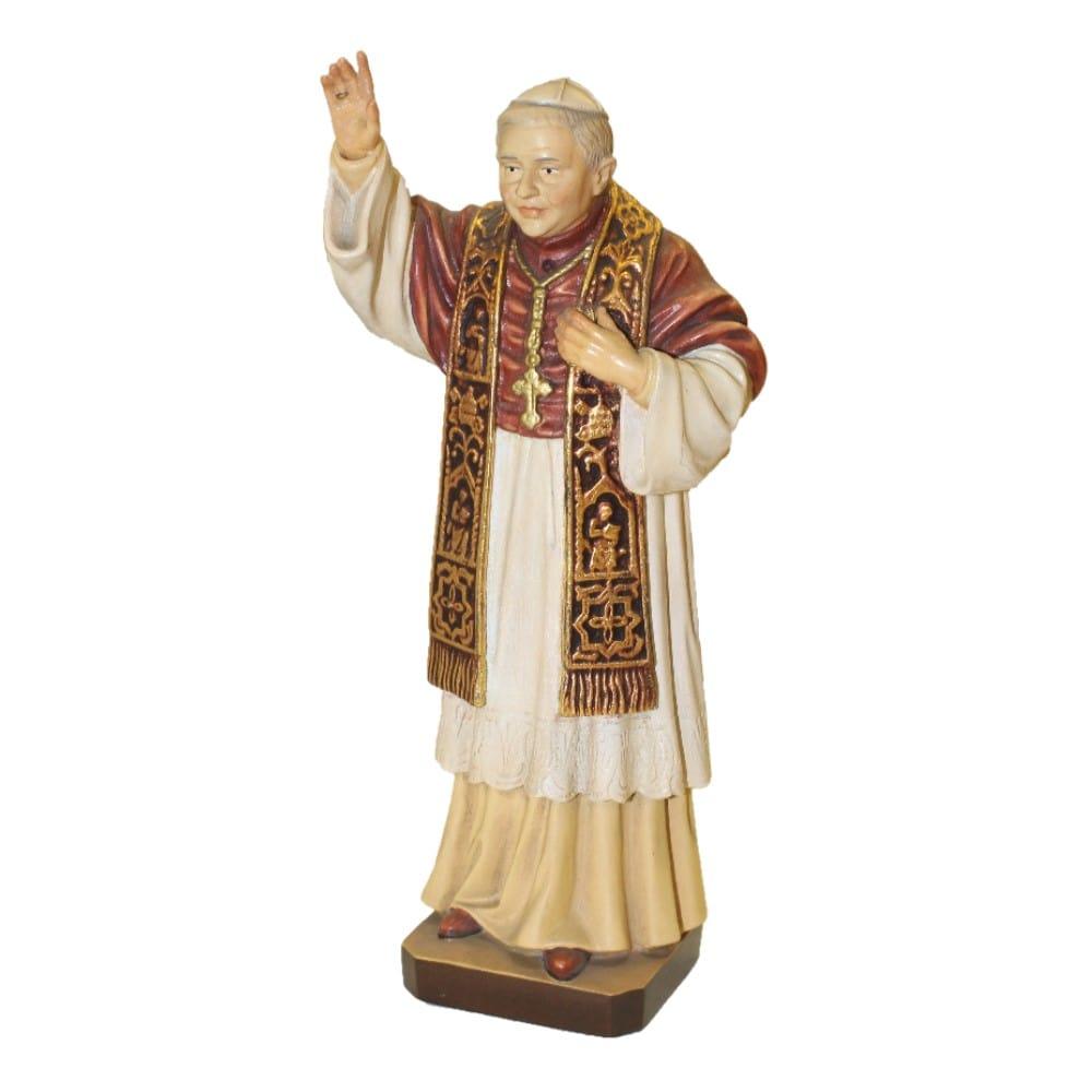 Statua Papa Benedetto XVI cm 15 in legno