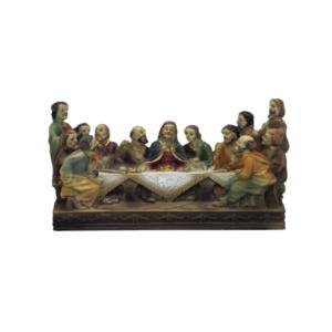 Statua Ultima Cena cm 9x14 in resina