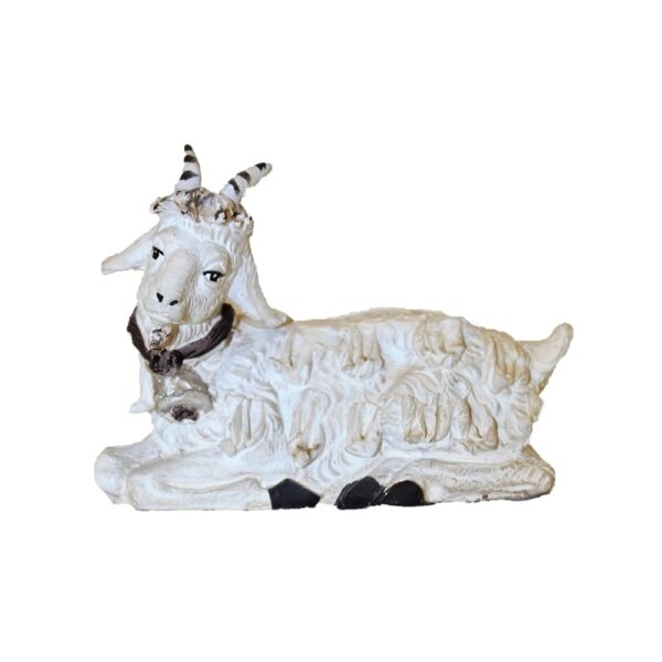 Statua presepe capre seduta terracotta Pippo Giovane Caltagirone