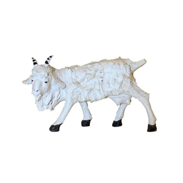 Statua presepe capre terracotta Pippo Giovane Caltagirone