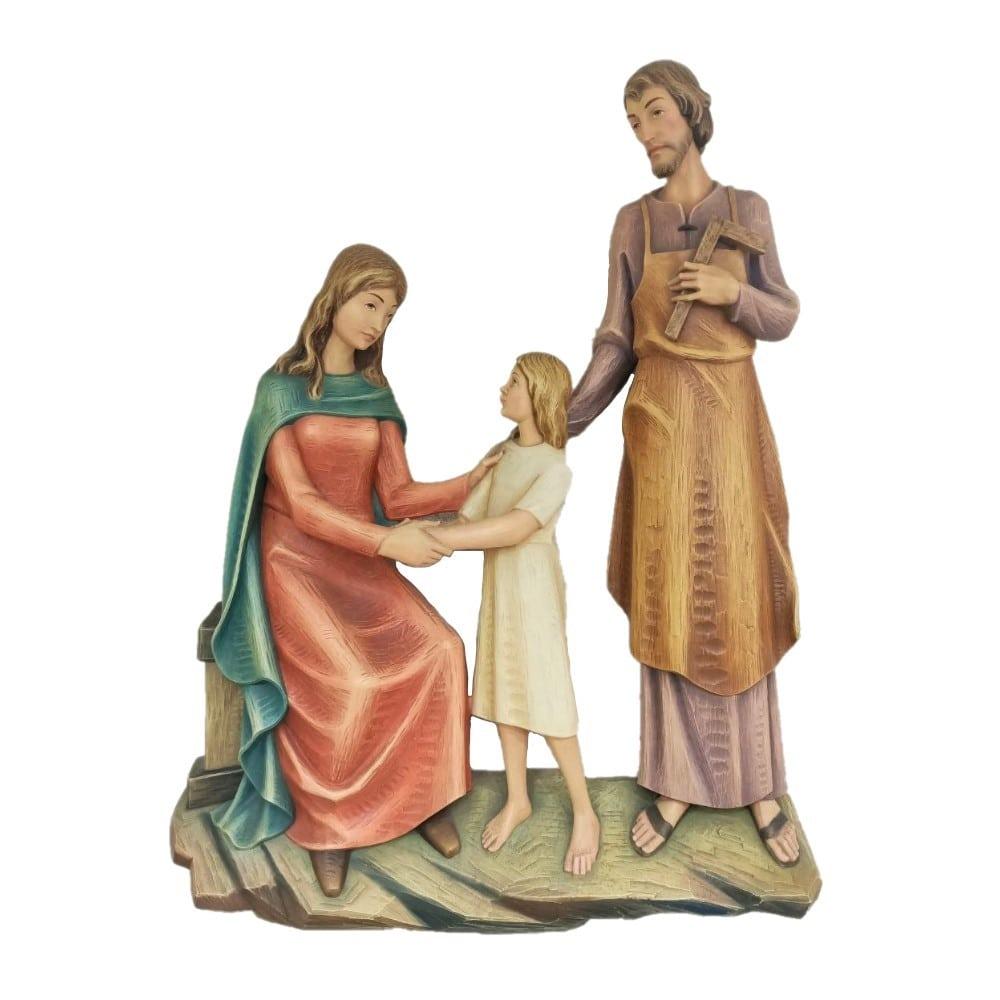Sacra Famiglia in fibra da muro cm 90