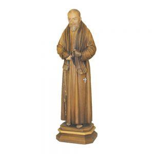 Statua San Pio cm 30 in legno Val Gardena