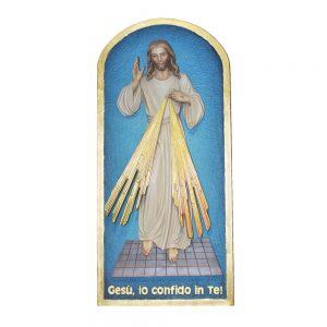 Placca raffigurante Gesù Misericordioso cm 90 Demetz