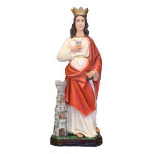 Statua Santa Barbara cm 60 in resina vuota