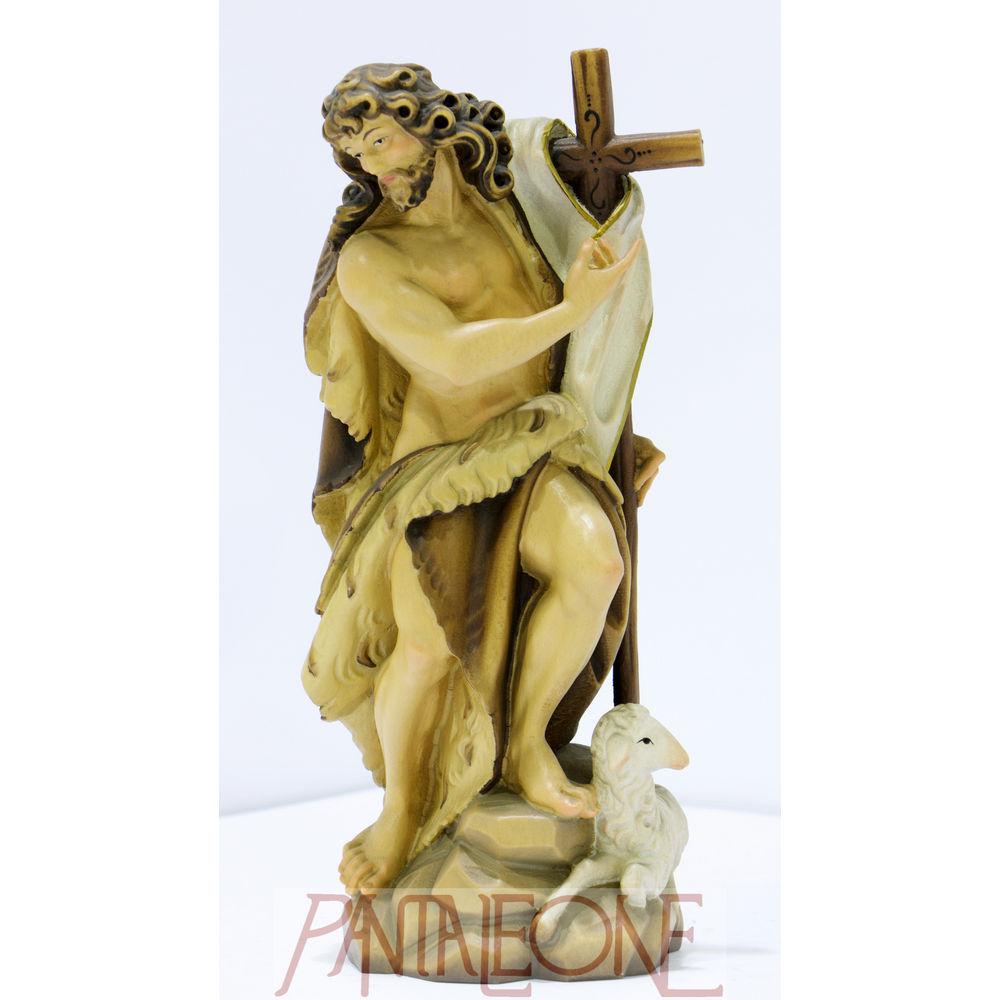 Statua San Giovanni Battista cm 20 in legno