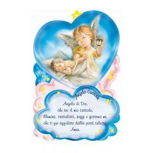Quadretto preghiera Angelo Custode cm 10x15