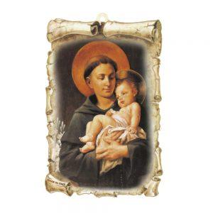 Tavola mdf pergamena Sant'Antonio cm 10x15