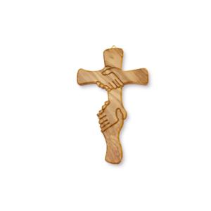 Croce dell'amicizia cm 15 in ulivo