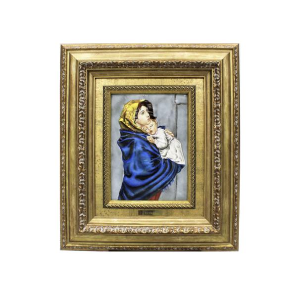 Quadro in smalto raffigurante la Madonna del Buon Riposo