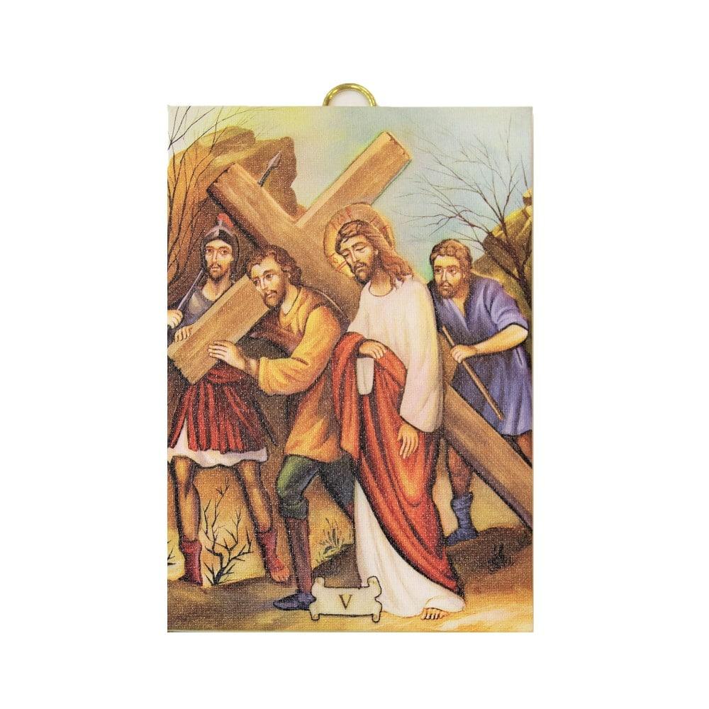 Set Via crucis 15 tele misura cm 13x18