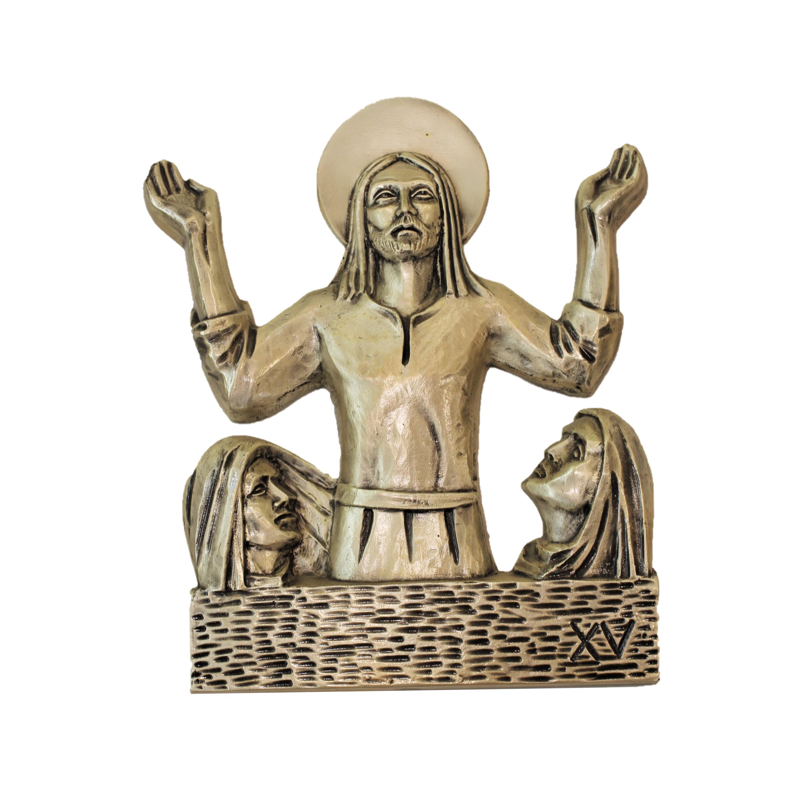 Via Crucis in metallo cm 33x41