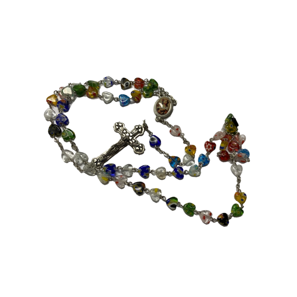 Corona da rosario in vetro di murano Santa Rosalia