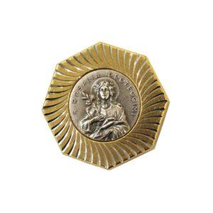 Calamita Santa Rosalia in metallo dorato