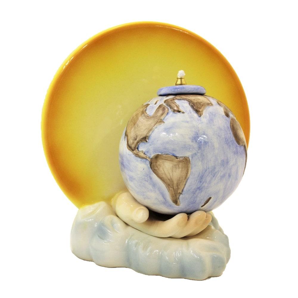Lampada in ceramica luce del mondo cm 25x24