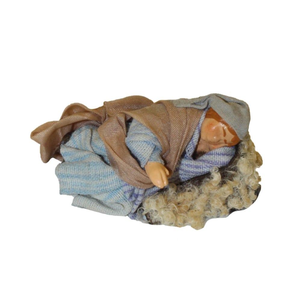 Benino o pastore dormiente cm 8 in terracotta