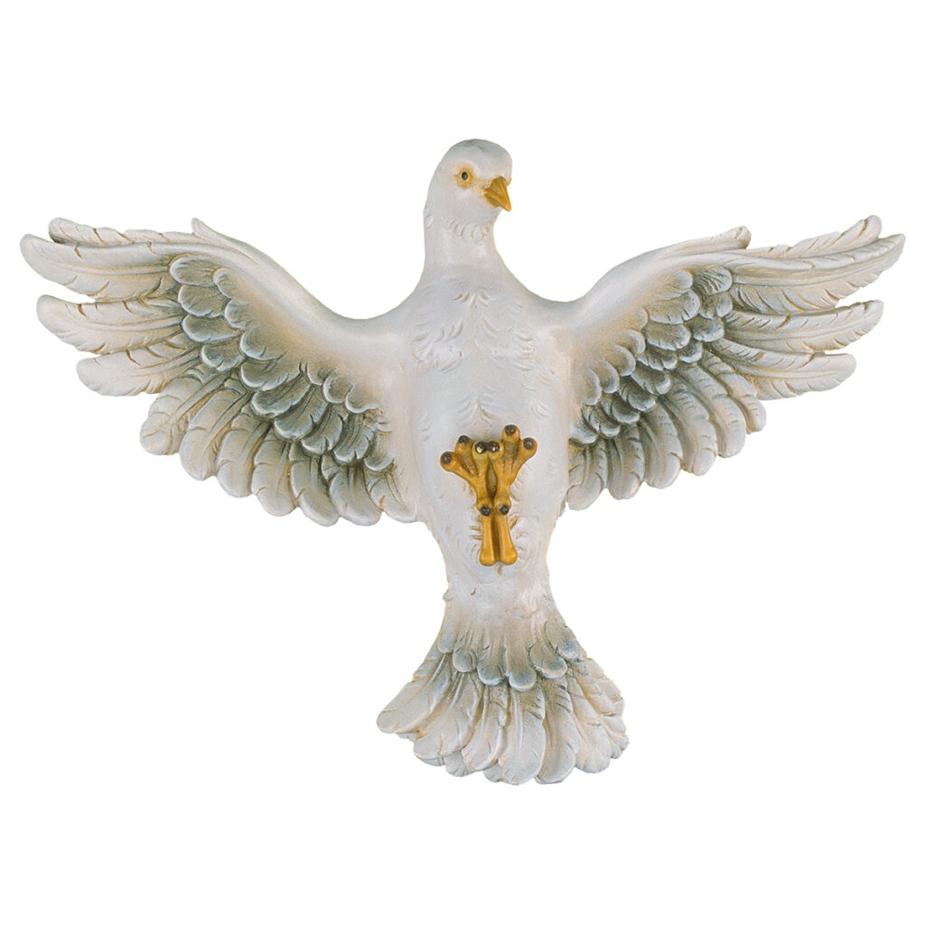 Colomba Spirito Santo in legno scolpito cm 23