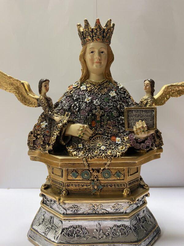 Sant'Agata busto cm 21 in resina