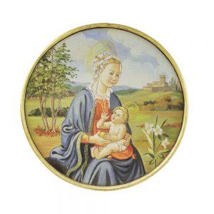 Affresco Madonna con Bambino cm 90
