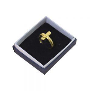 Anello a dito stilizzati dorato