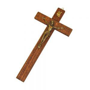 Croce in legno e ottone cm 25